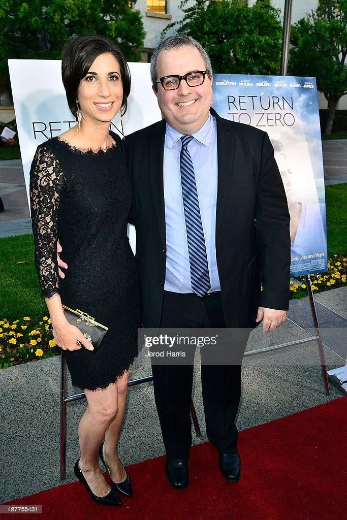 Kiley Hanish and writer/director/producer Sean Hanish arrive at the Premiere of Lifetime Television's 'Return To Zero' at Paramount Theater on the Paramount Studios lot on May 1, 2014 in Hollywood, California.