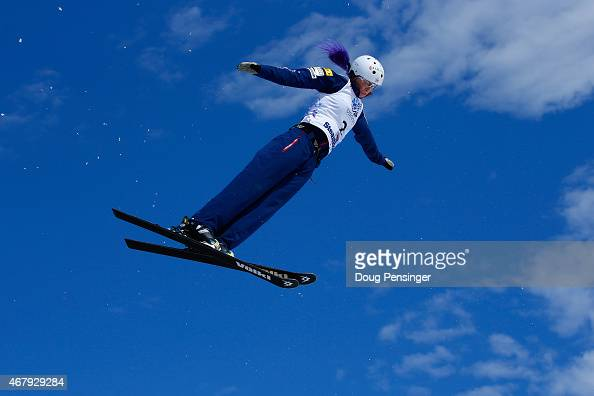 Kiley McKinnon jumps to second place in the ladies' aerials at the 2015 US Freestyle Ski National Championships at Steamboat Ski Resort on March 28...