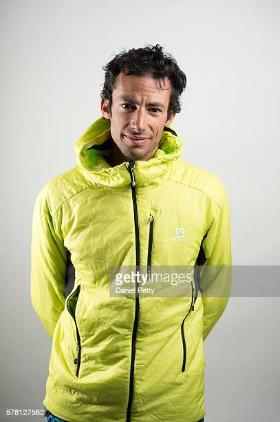Kilian Jornet of Spain poses for a portrait after finishing the Hardrock 100 ultra distance run through the San Juan Mountains on July 16 in...