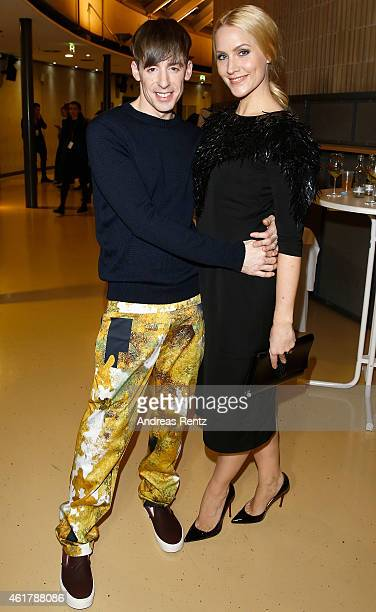 Kilian Kerner and Judith Rakers attend the Kilian Kerner show during the MercedesBenz Fashion Week Berlin Autumn/Winter 2015/16 at Kosmos on January...