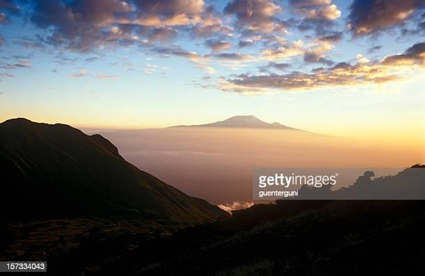 Kilimanjaro, Africas highest mountain at sunset