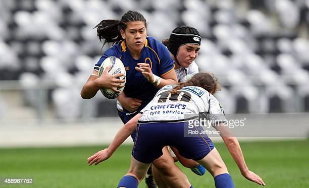 Kilisitina Moata'ane of Otago on the attack during the Women's Provincial Championship round two match between Otago and Bay of Plenty on September...