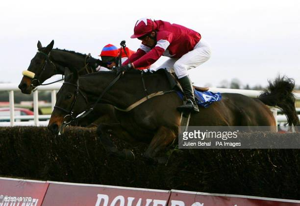 Kill Devil Hill ridden by jockey John Cullen wins ahead of Father Matt ridden by jockey Paul Carberry in the Pierse Group Drinmore Novice Chase at...