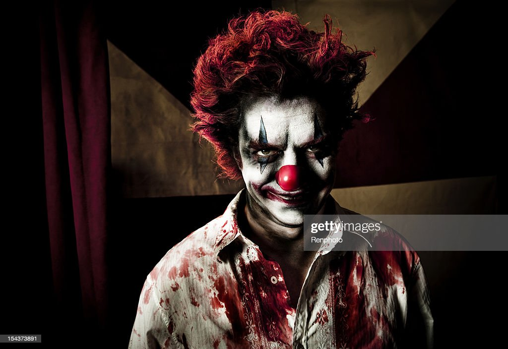 Killer Clown With An Evil Smile
