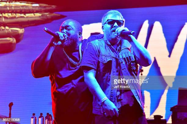 Killer Mike and ElP of Run The Jewels perform at Camelback Stage during day 3 of the 2017 Lost Lake Festival on October 22 2017 in Phoenix Arizona