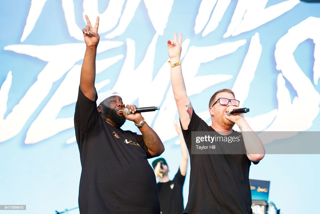 Killer Mike (L) and El-P of Run The Jewels perform onstage during Day 1 of The Meadows Music & Arts Festival at Citi Field on September 15, 2017 in New York City.