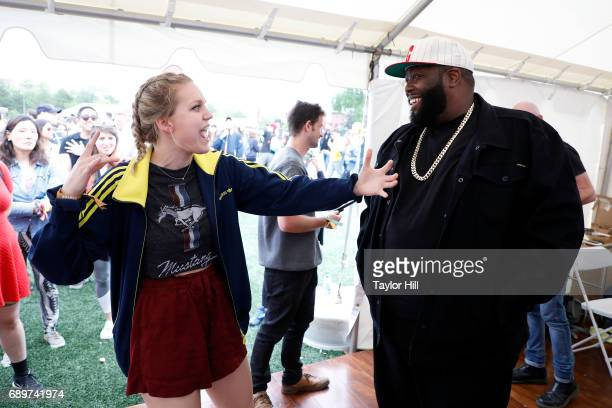 Killer Mike of Run the Jewels greets fans who have watched his virtual reality video at the Tribeca Virtual Arcade presented by Tribeca Film Festival...