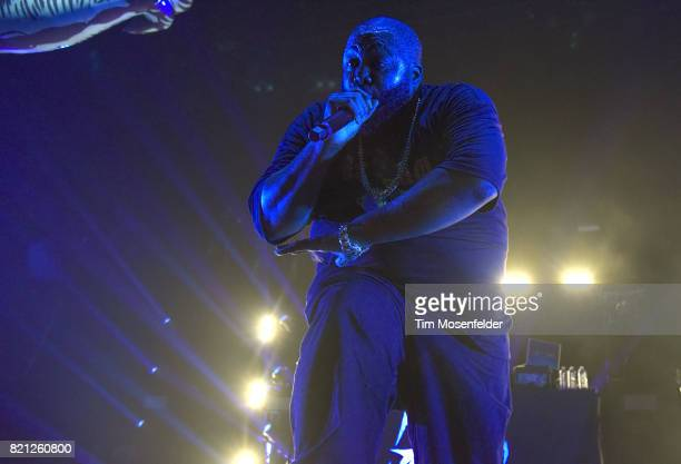 Killer Mike of Run the Jewels performs in support of their 'RTJ3' release at Bill Graham Civic Auditorium on July 22 2017 in San Francisco California