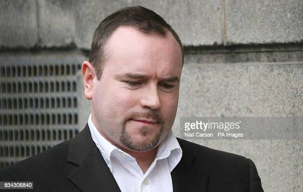 IRA killer Robert Duffy is led away after being sentenced to life in prison at the Central Criminal Court in Dublin today after he pleaded guilty to...