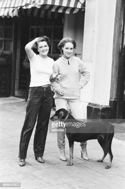 Killer's Moon photocall to promote new film London 15th November 1978 Pictured actors in film Lisa Vanderpump aged 17 and Georgina Kean aged 19 with...