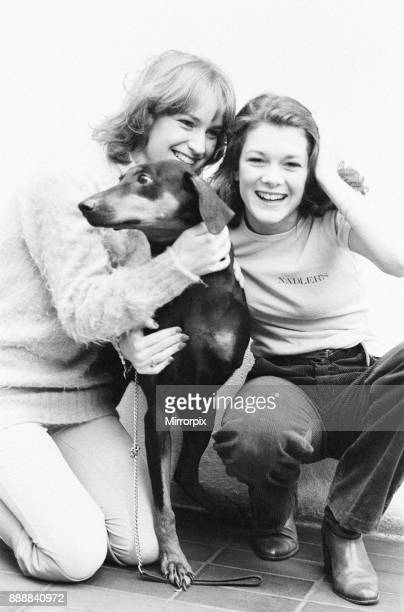 Killer's Moon photocall to promote new film London 15th November 1978 Pictured actors in film Georgina Kean aged 19 and Lisa Vanderpump aged 17 with...