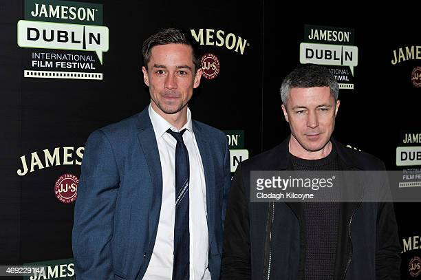 Killian Scott and Aidan Gillen attend a screening of 'Calvary' the opening gala for the Jameson Dublin International Film Festival at Savoy on...