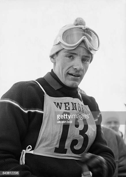 Killy JeanClaude *Ehemaliger alpiner Skisportler Frankreich mit der Startnummer 13 bei einem Rennen in Wengen 15 Januar 1967