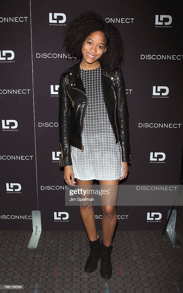 Kilo Kish attends 'Disconnect' New York Special Screening at SVA Theater on April 8 2013 in New York City