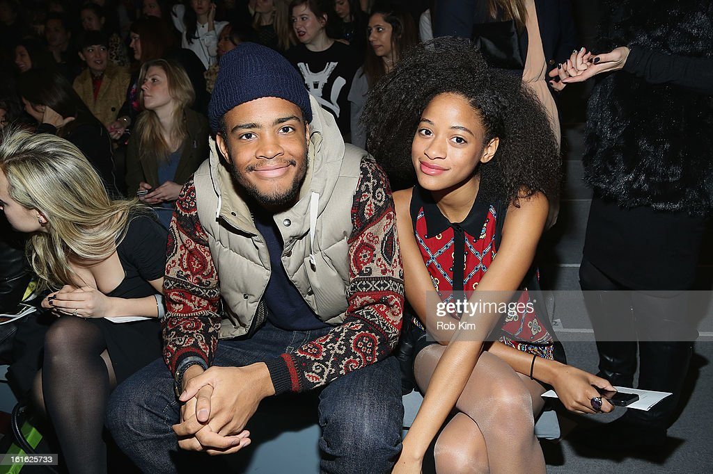 Kilo Kish (R) attends Nanette Lepore during Fall 2013 Mercedes-Benz Fashion Week at The Stage at Lincoln Center on February 13, 2013 in New York City.