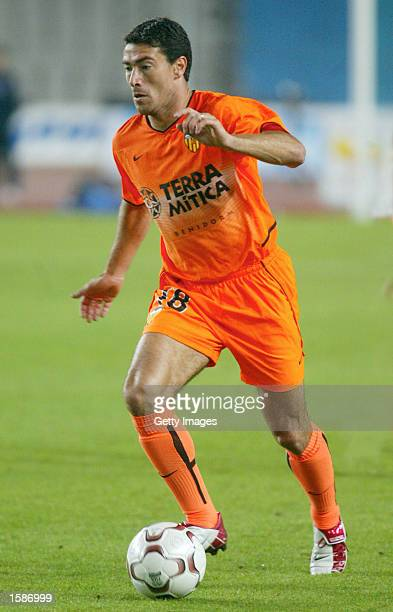 Kily Gonzalez of Valencia in action during the Primera Liga match between RCD Espanyol and Valencia played at the Montjuic Stadium Barcelona Spain on...