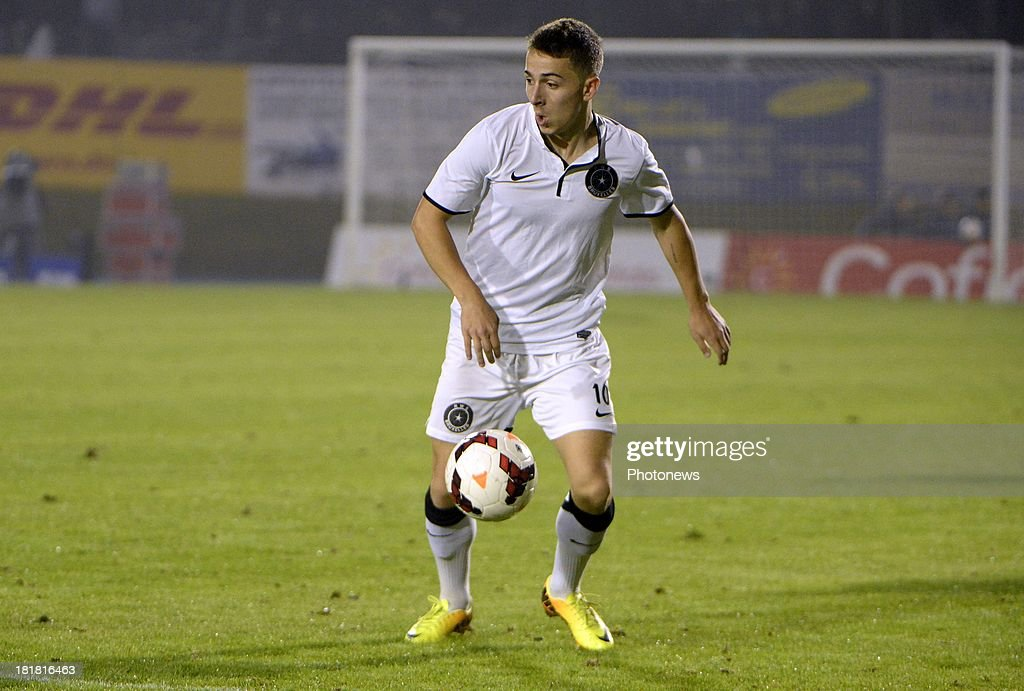 Kilyan Hazard of WS pictured during the Cofidis Cup match between White Star and Standard of Liege on september 25 , 2013 in Woluwe, Belgium.