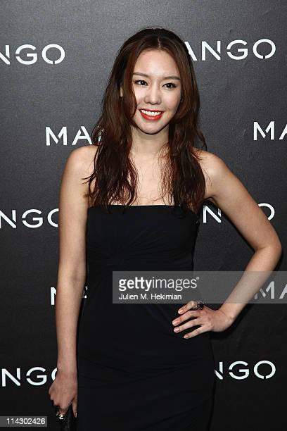 Kim Ahjoong attends the Mango new collection launch at Centre Pompidou on May 17 2011 in Paris France
