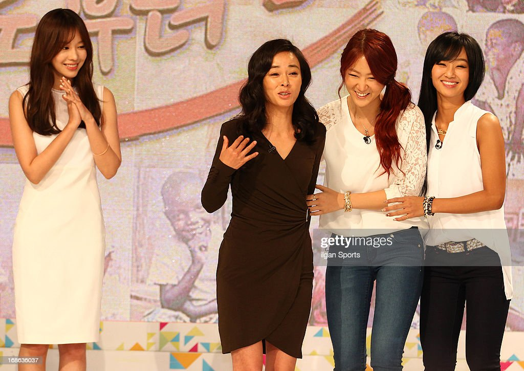 Kim A-Joong, Cho Min-Soo, So-You and Hyo-Lyn attend the '2013 Hope TV SBS' Press Conference at SBS Prism Tower on May 8, 2013 in Seoul, South Korea.