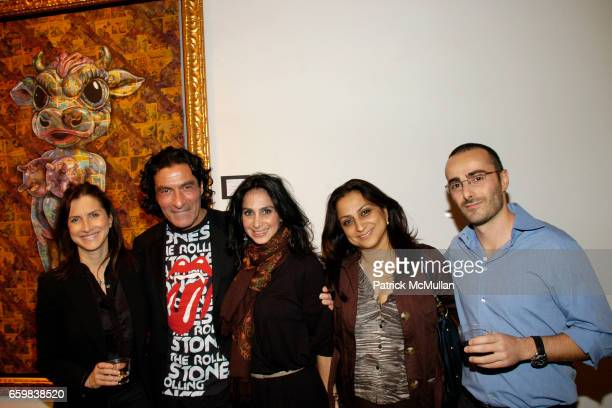 Kim Allouche Eric Allouche Robina Seren Manveen K and Tomy guest attend IMMORTAL UNDERGROUND by RON ENGLISH at Opera Gallery on November 12 2009 in...
