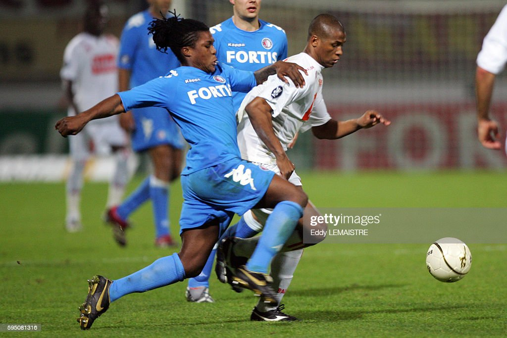 Kim and Roystein Drenthe during the 20062007 UEFA Cup match between AS Nancy Lorraine and Feyenoord Rotterdam