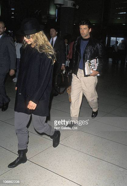 Kim Basinger and Alec Baldwin during Alec Baldwin and Kim Bassinger Sighting at Los Angeles International Airport May 22 1990 at Los Angeles...