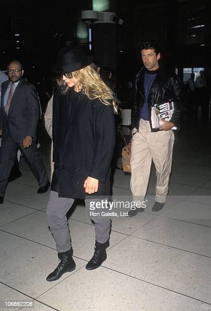 Kim Basinger and Alec Baldwin during Alec Baldwin and Kim Bassinger Sighting at Los Angeles International Airport May 22 1990 at Los Angeles...