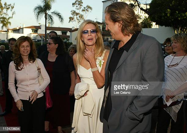 Kim Basinger and Jeff Bridges during 'The Door in the Floor' Premiere Red Carpet at Restaurant NU in Santa Barbara California United States
