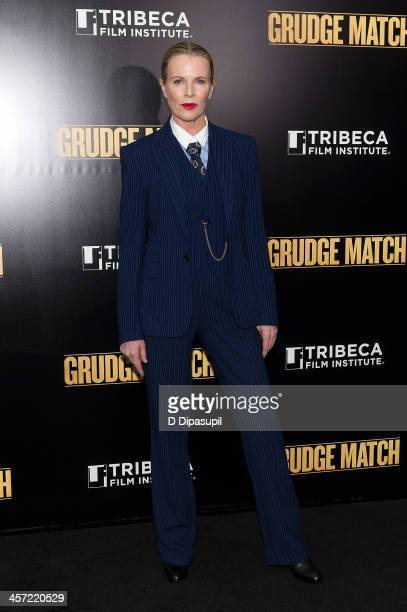 Kim Basinger attends the 'Grudge Match' screening benefiting the Tribeca Film Institute at the Ziegfeld Theater on December 16 2013 in New York City