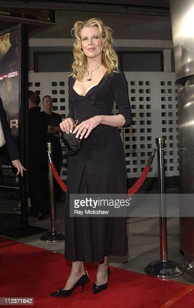 Kim Basinger during 'Cellular' New Line Cinema Premiere Red Carpet at Cinerama Dome in Los Angeles California United States