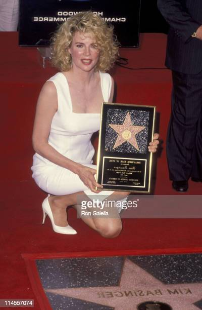 Kim Basinger during Kim Basinger Honored with a Star on the Hollywood Walk of Fame for Her Achievements in Film at Hollywood Walk of Fame in...