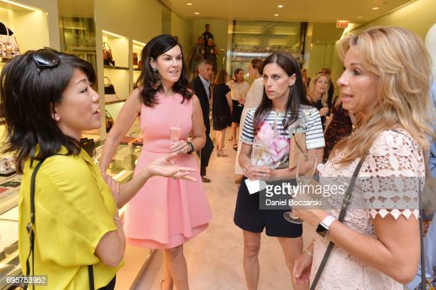Kim Breitenecker Liz Ryan Andrea Garber and guest attend Prada Chicago x University Of Chicago Cancer Research Foundation Event at Prada Chicago on...