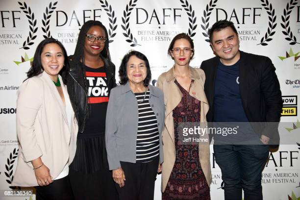 P Kim Bui Brittany Packnett Dolores Huerta Paola Mendoza and Jose Antonio Vargas at The Harvey B Gantt Center for African American Arts Culture on...