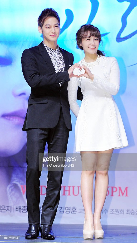 <a gi-track='captionPersonalityLinkClicked' href=/galleries/search?phrase=Kim+Bum&family=editorial&specificpeople=4213404 ng-click='$event.stopPropagation()'>Kim Bum</a> and Jeong Eun-Jee attend the SBS Drama 'Wind Blow In Winter' press conference at Blue Square on January 31, 2013 in Seoul, South Korea.
