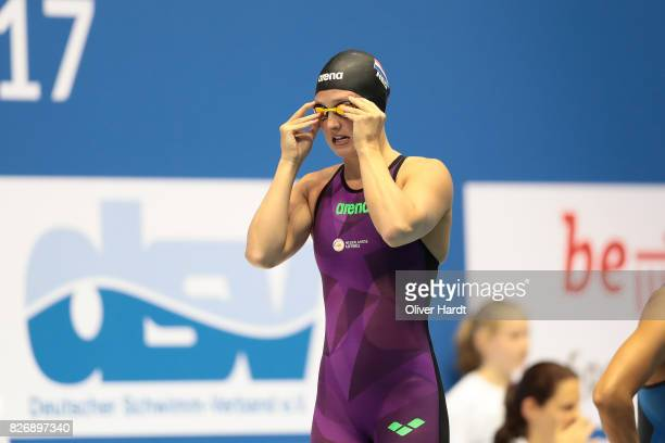 Kim Busch of Netherlands compete in the Women´s 50m Butterfly during day one of the FINA Airweave Swimming World Cup Berlin 2017 at Europa Sportpark...