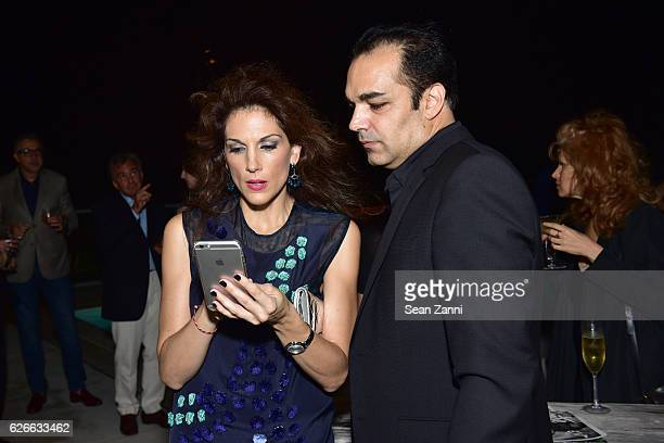 Kim Caceres and Gonzalo Casini attend Interview Tiffany Co Celebrate Paloma Picasso and her 35 Years with Tiffany Co at 1 Hotel South Beach on...