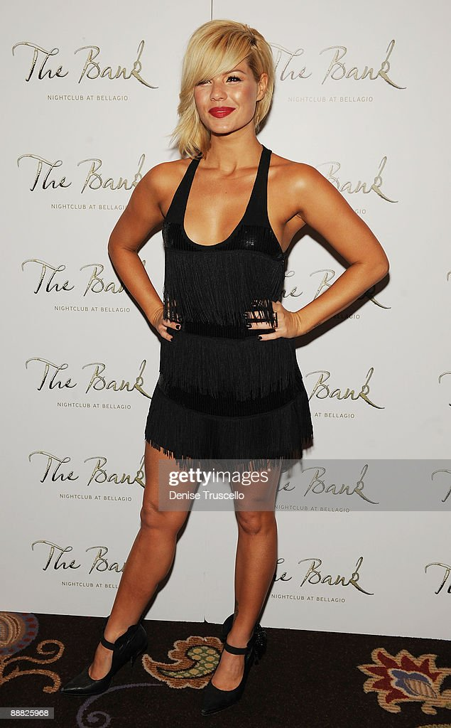 Kim Caldwell arrives at The Bank at the Bellagio Hotel and Casino Resort on July 4, 2009 in Las Vegas, Nevada.