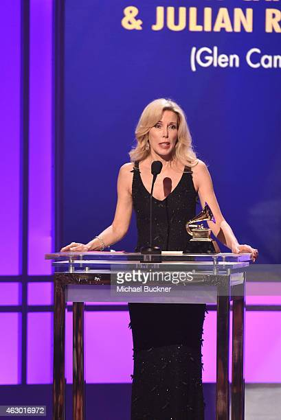 Kim Campbell accepts the award for Best Country Song onstage at the Premiere Ceremony during The 57th Annual GRAMMY Awards at the Nokia Theatre LA...