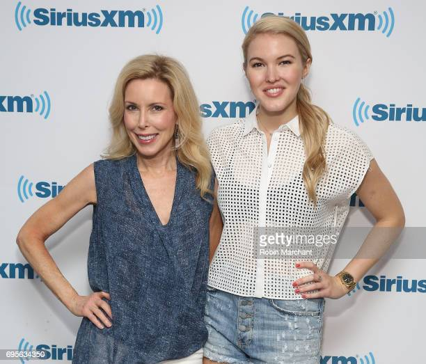 Kim Campbell and Ashley Campbell visit at SiriusXM Studios on June 13 2017 in New York City