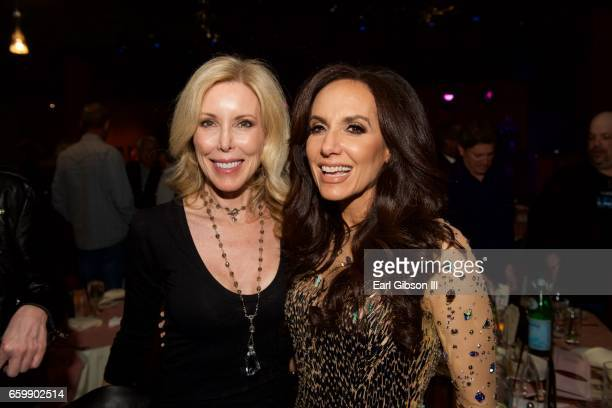 Kim Campbell and Deborah Silver pose for a photo after Deborah Silver's performance at Catalina Jazz Club Bar Grill on March 28 2017 in Hollywood...