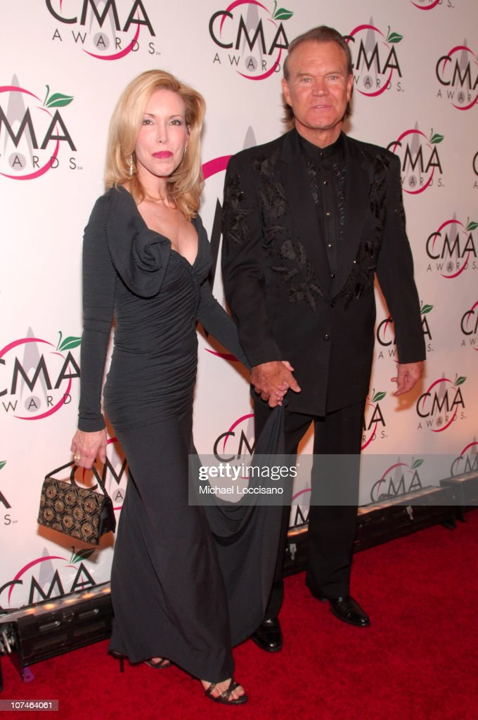 Kim Campbell and Glen Campbell during The 39th Annual CMA Awards - Arrivals at Madison Square Garden in New York City, New York, United States.