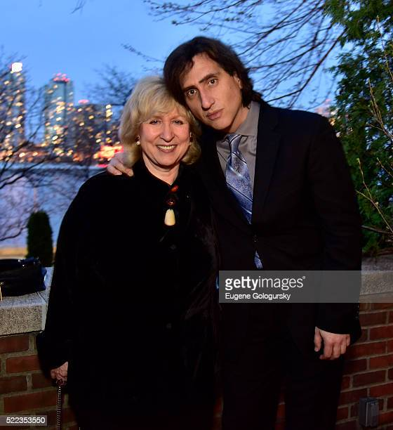 Kim Campbell and Hershey Felder attend Hershey Felder As Irving Berlin a preview event at The Luxembourg House former home of Irving Berlin on April...