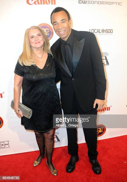 Kim Campbell and Miles Robinson at the 2017 Society Of Camera Operators Awards held at Loews Hollywood Hotel on February 11 2017 in Hollywood...