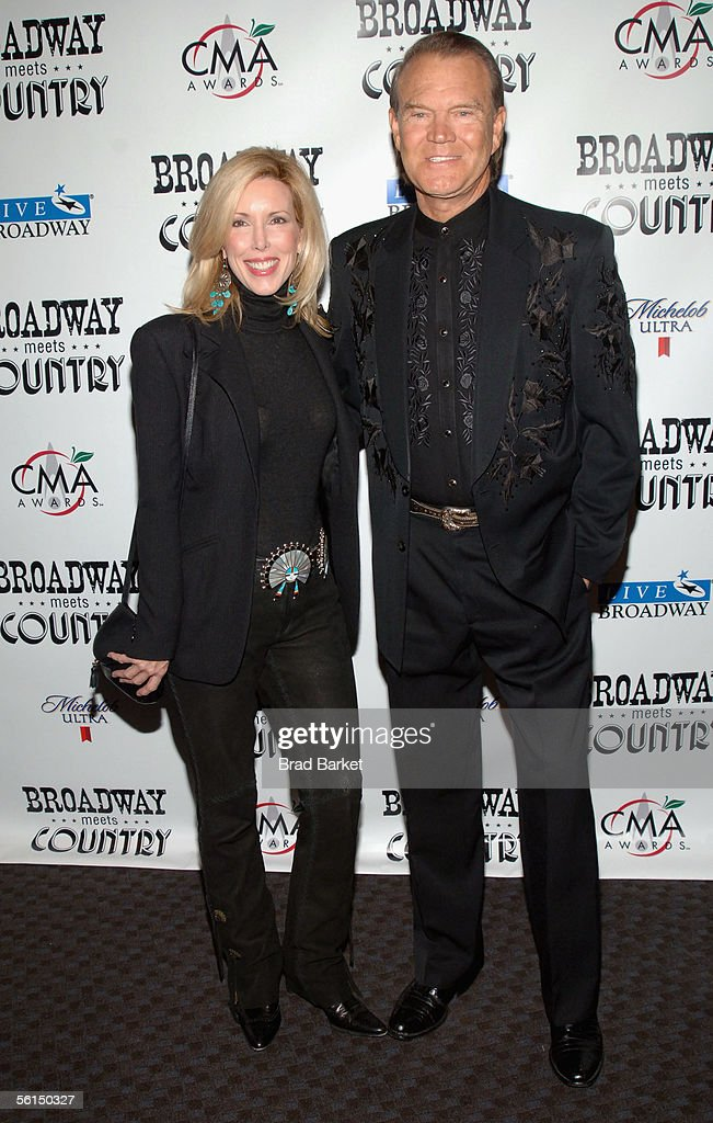 Kim Campbell and singer Glen Campbell arrive to the 'Broadway Meets Country' Benefit Concert at 'Frederic P. Rose Hall, Home of Jazz at Lincoln Center' on November 12, 2005 in in New York City.