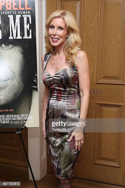 Kim Campbell attends the 'Glen CampbellI'll Be Me' New York Premiere at Crosby Street Hotel on October 22 2014 in New York City
