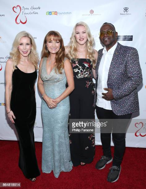 Kim Campbell Jane Seymour Ashley Campbell and Randy Jackson at Jane Seymour And The 2017 Open Hearts Gala at SLS Hotel on October 21 2017 in Beverly...
