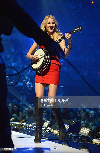 Kim Campbell performs onstage during the 2012 CMT Music awards at the Bridgestone Arena on June 6 2012 in Nashville Tennessee