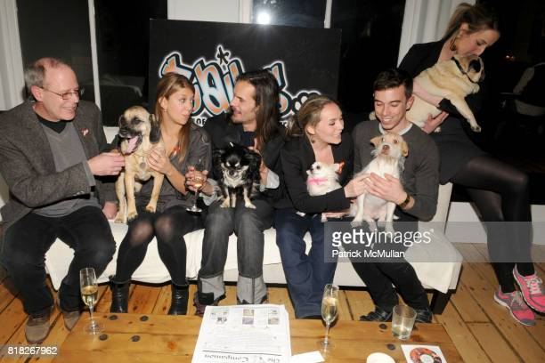 Kim Carosella Max Whitney Natalia Rozenholc Christopher Pastor Kingsley Woolworth and Dogalites attend TAILS Celebrates 'I LOVE NYC PETS' Month at...