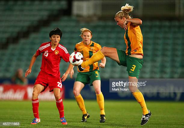 Kim Carroll of the Matildas controls the ball during the Women's International Friendly match between the Australian Matildas and China PR at...