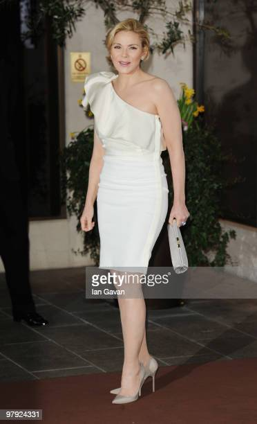 Kim Catrall attends the Laurence Olivier Awards at The Grosvenor House Hotel on March 21 2010 in London England